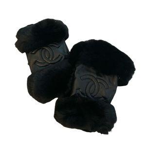 Chanel VIP - Black Lambskin w/Fur gloves
